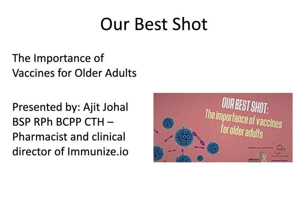 Taking our shot: Vaccinations and Seniors